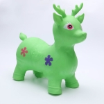 Jumping Horse Cartoon PVC Inflatable Animal Toy,  Random Color and Style Delivery