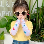 Childrens Summer Cool Sunscreen Ice Silk Printing Sleeves, Size:One Size(Floret)