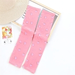 Summer Cute Driving Sunscreen Ice Silk Sleeves for Female, Size:One Size(Pink Peach)