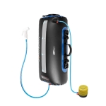 Solar Water Bag Solar Bath Bag Outdoor Shower Picnic Camping  Water Storage Drinking Bag, Style:Ordinary Air Pump