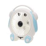 Mini Fan Student Dormitory Cartoon Music Dog Small Fan Office Desktop Desk Fan, Plug Type:CN Plug(Blue)