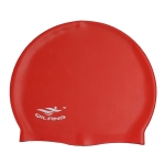 Adult Solid Color Waterproof Silicone Swimming Cap(Red)