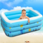 Intime Household Indoor and Outdoor Children Square Large Inflatable Swimming Pool, Size: 262 x 175 x 60cm