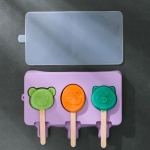 Homemade Children Cute Silicone Cartoon Popsicle Ice Cream Mould, Style:Large Cartoon
