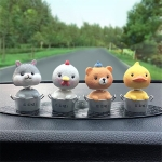4 In 1 Cute Animal Group Cactus Small Potted Spring Car Decoration, Size:L, Color:Animals Park