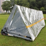 Emergency Simple Tent Outdoor Rescue Blanket First Aid Sunscreen Insulation Blanket, Color:Silver