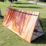 Emergency Simple Tent Outdoor Rescue Blanket First Aid Sunscreen Insulation Blanket, Color:Orange