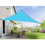 Outdoor Sunshade Triangle Sky Screen Simple Sun Protection Canopy, Size:6X6X6M(Random Color)