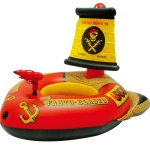87212 Adult Water Inflatable Swimming Ring Pirate Ship Shape Floating Bed, Size:127 x 124 x 72cm