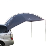 Laputa Outdoor Self-driving Barbecue Camping Vehicle Tail Car Side Tent, Color:Blue Gray
