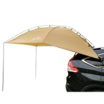 Laputa Outdoor Self-driving Barbecue Camping Vehicle Tail Car Side Tent, Color:Silver Coated