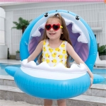 PVC Inflatable Childrens Swimming Ring Play Water Toys Inflatable Shark Shade Seat, Size:95 x 78 x 70cm