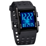 addies MY-0731 Colorful LED Digital Display Multi-function Sports Electronic Watch for Student(Black)