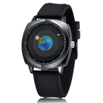 addies MY-1704 Earth Pattern Silicone Strap Watch for Men, Support Life Waterproof