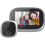 SF550 4.3 inch Screen 1.0MP Security Digital Door Viewer with 12 Polyphonic Music, Support PIR Motion Detection & Infrared Night Vision & 145 Degrees Wide Angle & TF Card (Black)