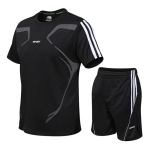 Men Sports Fitness Suits Running Casual Quick-drying Clothes (Color:Black Size:M)