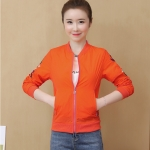 Fresh Embroidered Sunscreen Thin Coat (Color:Orange Size:XXL)