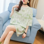 Korean Style Loose Short Sleeve T Shirt (Color:Green Size:M)