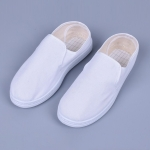 Breathable Canvas Dust-free Anti-static PVC Sole Shoes (Color:White Size:46)