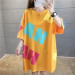 Korean Version Of Graffiti Short Sleeved T Shirt Women Loose Large Size Women (Color:White Size:XXL)