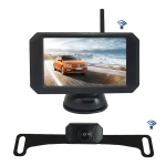 WX5311D 5 inch HD 720P Digital Wireless Set Car Rear View Camera for Security Backup Parking, IP67 Waterproof, Wide Viewing Angle: 170 Degree