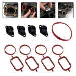 4x22mm Car Swirl Flap Air Intake Aluminum Gasket Remove Repair Kit(Black)