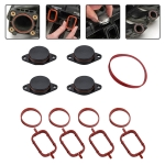 4x33mm Car Swirl Flap Air Intake Aluminum Gasket Remove Repair Kit(Black)