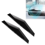 2 PCS Universal Car Screaming Bumper Rearview Mirror Anti-collision Strip Protection Guards Plastic Trims Stickers (Black)