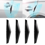 4 PCS Universal Car Screaming Bumper Door Anti-collision Strip Protection Guards Plastic Trims Stickers(Black)