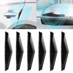 6 PCS Universal Car Screaming Bumper Door + Rearview Mirror Anti-collision Strip Protection Guards Plastic Trims Stickers(Black)