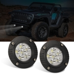 2 PCS Car 5 inch Round Embedded Front Bumper Light Work Light
