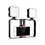 YELANGU PC201 YLG1801A Vlogging Live Broadcast LED Selfie Light Smartphone Video Rig Handle Stabilizer Plastic Bracket Kits