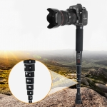 BEXIN P308C Portable Travel Outdoor DSLR Camera Aluminum Alloy Monopod Holder (Black)