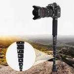 BEXIN P308D Portable Travel Outdoor DSLR Camera Aluminum Alloy Monopod Holder (Black)