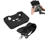 Sunnylife AIR2-Q9290 Remote Control Silicone Protective Case with lanyard for DJI Mavic Air 2 (Black)