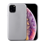 For iPhone 11 Carbon Fiber Texture Shockproof TPU Protective Case(Silver)