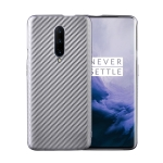 For OnePlus 7 Pro Carbon Fiber Texture Shockproof TPU Protective Case(Silver)