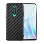 For OnePlus 8 Carbon Fiber Texture Shockproof TPU Protective Case(Black)