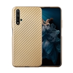 For Huawei Honor 20 Carbon Fiber Texture Shockproof TPU Protective Case(Gold)