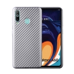 For Samsung Galaxy A60 Carbon Fiber Texture Shockproof TPU Protective Case(Silver)