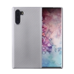 For Samsung Galaxy Note 10 Carbon Fiber Texture Shockproof TPU Protective Case(Silver)