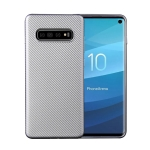 For Samsung Galaxy S10 Lite Carbon Fiber Texture Shockproof TPU Protective Case(Silver)