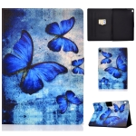 For Lenovo Tab M10 HD TB-X505F Colored Drawing Horizontal Flip Leather Case with Holder & Card Slots & Sleep / Wake-up Function(Retro Butterflies)
