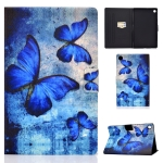 For Lenovo Tab M10 Plus TB-X606F Colored Drawing Horizontal Flip Leather Case with Holder & Card Slots & Sleep / Wake-up Function(Retro Butterflies)