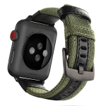 For Apple Watch Series 5 & 4 40mm / 3 & 2 & 1 38mm Nylon Watchband(Army Green)