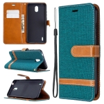 For Nokia 1.3 Denim Texture Horizontal Flip Leather Case with Holder & Card Slots & Wallet & Lanyard(Green)