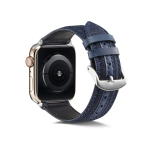 For Apple Watch Series 5 & 4 40mm / 3 & 2 & 1 38mm Denim Watchband(Dark Blue)