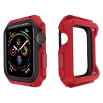 For Apple Watch Series 5 & 4 44mm Shockproof Two Color Protective Case(Red Black)