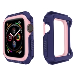 For Apple Watch Series 5 & 4 42mm Shockproof Two Color Protective Case(Blue Pink)