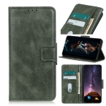 For iPhone 12 5.4 inch Mirren Crazy Horse Texture Horizontal Flip Leather Case with Holder & Card Slots & Wallet(Dark Green)